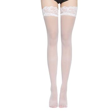 3 Pair Sexy Stockings Female Thigh High Stockings Lace High Knee Stockings For Women Leg Warmers