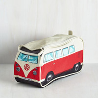 60s Groovy Getaway Toiletry Bag in Red by ModCloth