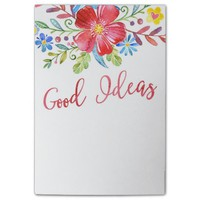 Watercolor Flowers Good Ideas Post-it® Notes