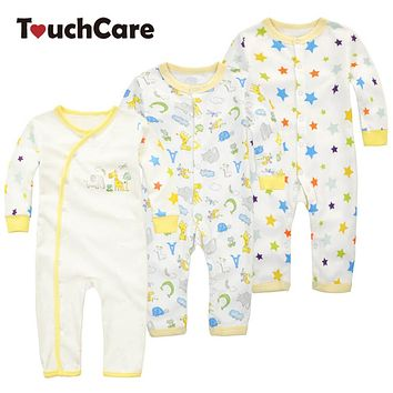 Newborn Cotton Cartoon Animal Baby Boy Girl Rompers Colorful Long Sleeve Soft Infant Jumpsuit Casual Toddler Sleepers Clothes