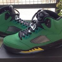 Air Jordan 5 green black Basketball Shoes 40-47