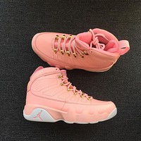 new color pink air jordan 9 retro sneaker gs