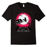 Funny Witches With Hitches Halloween Camping T Shirt