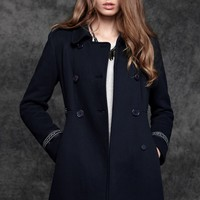 Classic Tribal Double-breasted Coat
