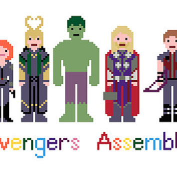 Avengers Assemble EXTENDED - Marvel Cross Stitch Pattern (pdf) INSTANT DOWNLOAD
