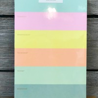 Color Block Weekly Memo Notepad