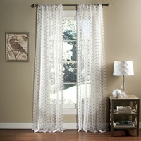 Lush Decor Polka-Dot Sheer Curtain Pair - 52'' x 84''