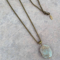 Jasper pendant chain necklace