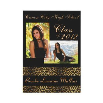 Leopard animal print graduation announcement from Zazzle.com