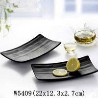 Rectangular Black Sushi Plate