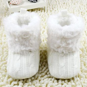 Winter First Walkers Ankle Boots Infant Crochet