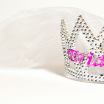 Bachelorette Party Bride to Be Tiara w/ Veil