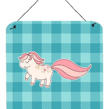 Little Pink Pony Polkadots Wall or Door Hanging Prints BB7061DS66
