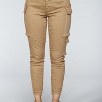 Kalley Cargo Pants - Tan