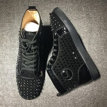 Cl Christian Louboutin Louis Spikes Style #1819 Sneakers Fashion Shoes