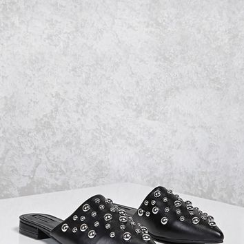 Bubble Stud Flat Mules