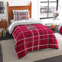Ohio State Buckeyes NCAA Twin Comforter Bed in a Bag (Soft & Cozy) (64in x 86in)