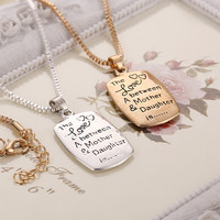 Love Necklace Between A Mother & Daughter