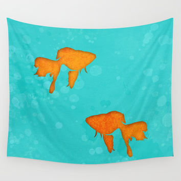 Aquarium for two Wall Tapestry by EDrawings38