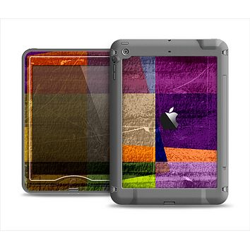 The Vintage Highlighted Panels of Color Apple iPad Air LifeProof Nuud Case Skin Set