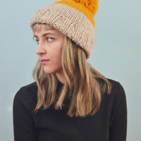 Dipped Pom Hat in Mustard