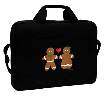 """Gingerbread Man and Gingerbread Woman Couple 15"""" Dark Laptop / Tablet Case Bag by TooLoud"""