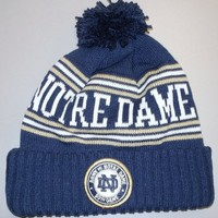 Notre Dame Fighting Irish Cuffed with POM Army Vs. Notre Dame Knit Adidas HAT - KC95Z