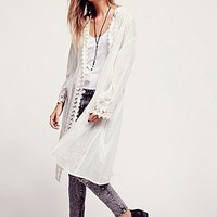 Free People Womens FP ONE Love Lace Jacket - Ivory