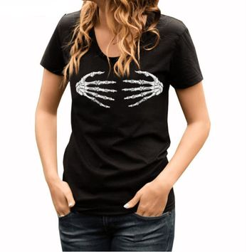 Skeleton Fingers  Women T-shirt
