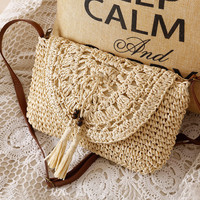 Handcrafts Woven Beach Bag [6580709959]