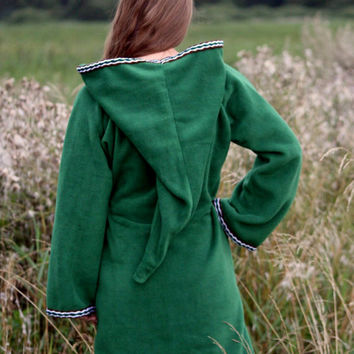 Legend of zelda cosplay costume Green Elven tunic - Medieval tunic - hyrule - Pixie hoodie - Psy hoodie - festival tunic - Halloween