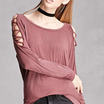 Lace-Up Dolman Top