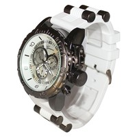 White Black Mens Geneva Watch (Invicta Style)