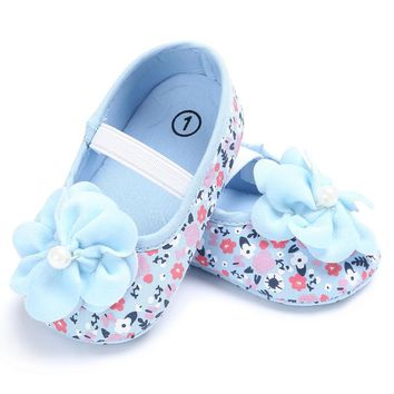 Cute Princess Shoes With flowers Footwear Baby Girls Soft Soled Zapatos