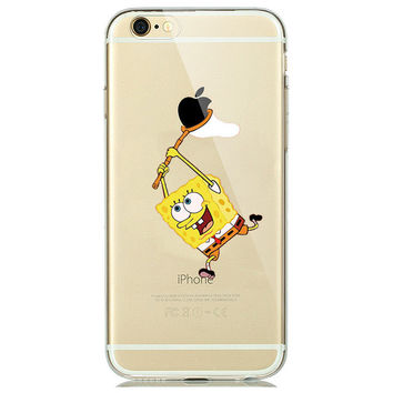 Sponge Bob Square Pants Phone Case For iPhone 7 7Plus 6 6s Plus 5 5s SE