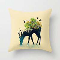 Watering (A Life Into Itself) Throw Pillow by Budi Satria Kwan | Society6