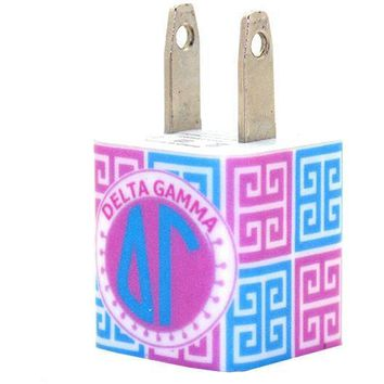 Delta Gamma Greek Key Phone Charger