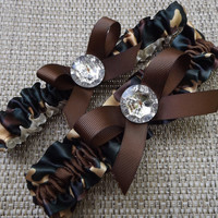 Camo Camouflage Wedding Garter Set Camo Garter Belt