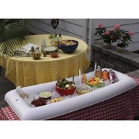 BigMouth Inc Inflatabuffet Portable/Inflatable Buffet and Salad Bar, White
