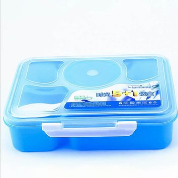 5 plus 1 Sealed Lunch Boxs Containers With Compartment Japanese Lunch Boxs For Kid School Lunch Boxs