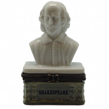 Shakespeare Bust Ceramic Hinge Boxes