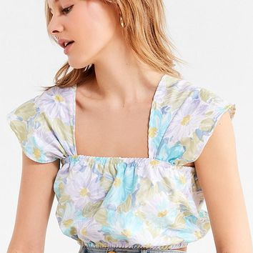 Urban Renewal Recycled Laura Ashley Floral Cropped Top | Urban Outfitters