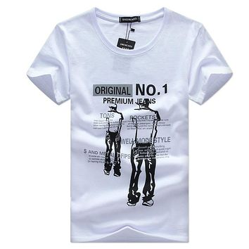 New pattern Summer T-shirt man round collar short sleeve fashion t shirt short sleeves