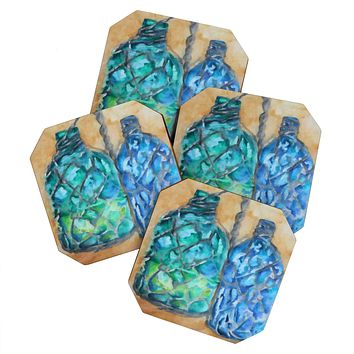 Rosie Brown Agua Fria Batik Coaster Set