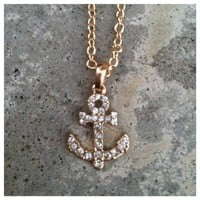 Anchor Babe Necklace- Tanya Kara Jewelry
