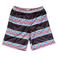 Tribal and Black Stripes Sublimated Lacrosse Shorts
