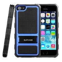 SUPCASE Apple iPhone 5S / 5 Kickstand Dual Layer Hybrid Protective Case - Impact Resistant Bumper, Black/Blue, Not Compatible with iPhone 5C / 4 / 4S