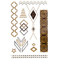 Diamond Metallic Tattoos Metal One Size For Women 25739209201