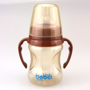 180 280ml Bobei Cute Baby Bottle Infant Newborn Cup Children Learn Feeding Drinking Handle Bottle Kids Straw Juice Water Bottle