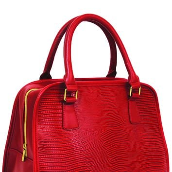 Red Teardrop Insulated Lunch Handbag